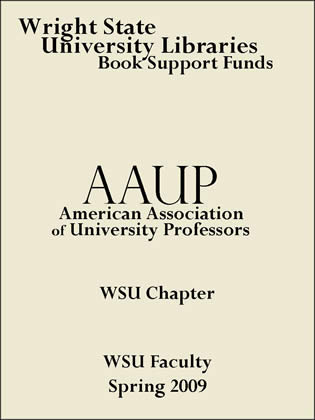Wright State University Chapter AAUP bookplate