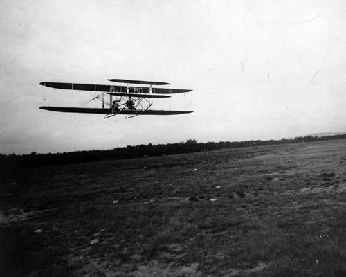 Wilbur Piloting Model A Flyer