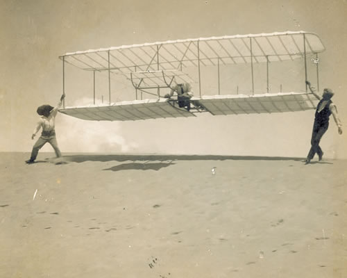 Launching Wright 1901 Glider